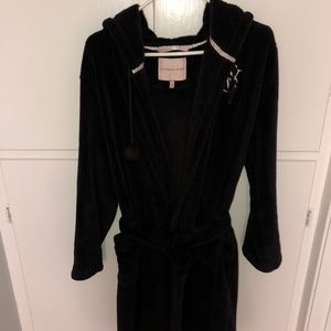Black Fleece Victoria's Secret Hoodie Robe